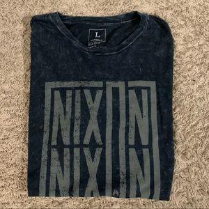 Nixon watches acid wash tee shirt